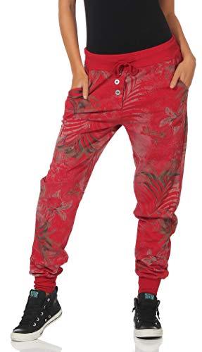 malito Pantalón Boyfriend Baggy Aladin Bombacho Sudadera Twist 83728 Mujer Talla Única (rojo)