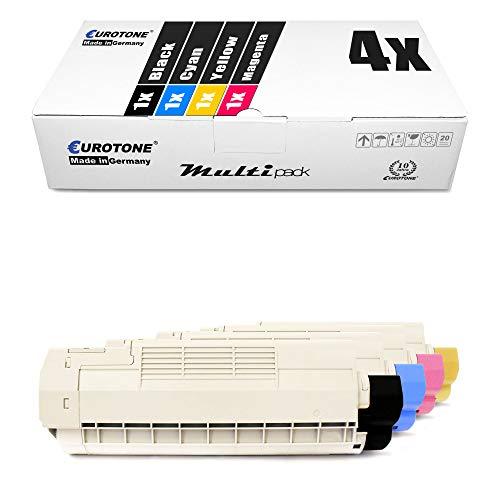 4X Müller Printware Toner für Oki C 610 DM DN CDN N DTN ersetzt Druckerpatronen Cartridges