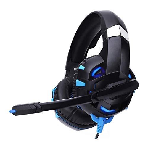 UNU_YAN Casque de Jeu, Son Surround 7.1 for Casque PS4 / Xbox One Gaming Headset avec LED for Microphone Oreille-Crochet (Color : Blue)