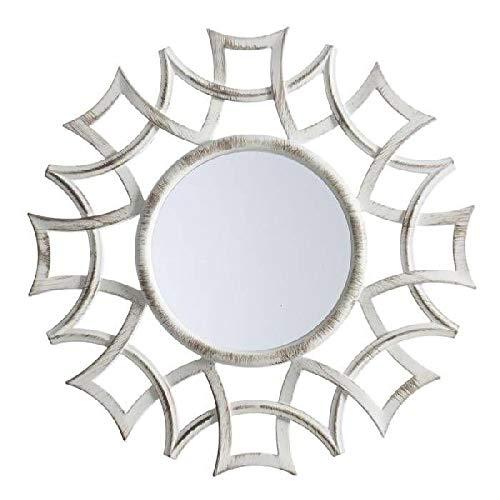 Dcasa Espejos de Pared Muebles Pegatinas Decoración del hogar Unisex Adulto, Crema (Crema), única