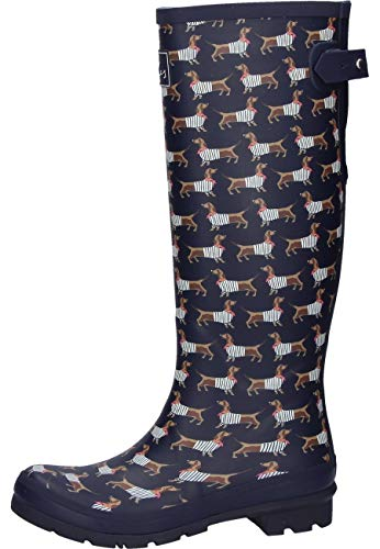Joules Welly Print Navy Sausage Dog 11 B (M)