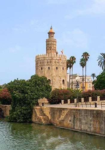 ZZXSY Puzzles 1000 Piezas Adultos Torre del Oro - La Torre del Oro En Sevilla, Andalucía, España Adecuado para La Decoración del Hogar.