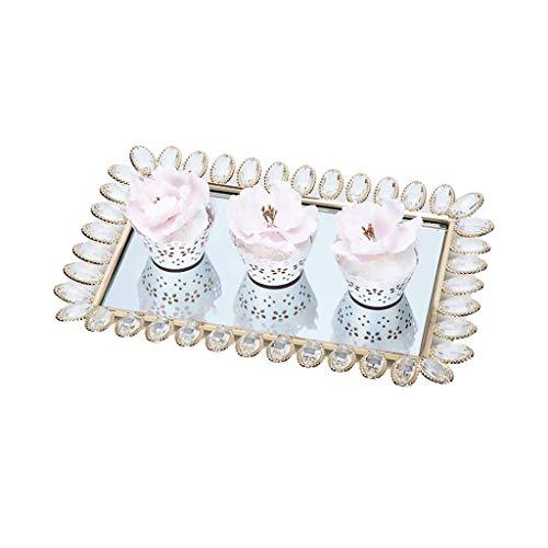 Bandeja de galletas Copa para pastel Decoración de la bandeja de la bandeja de la bandeja de la bandeja de la bandeja de la bandeja del espejo de la bandeja de la bandeja de la boda de la bandeja de d