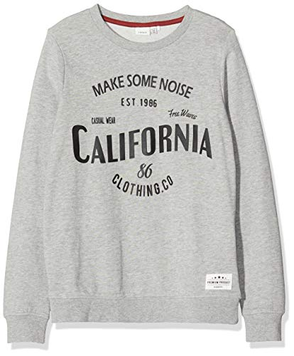 NAME IT Jungen NKMTMITHAI SWE UNB Sweatshirt, Grau (Grey Melange Grey Melange), 122-128
