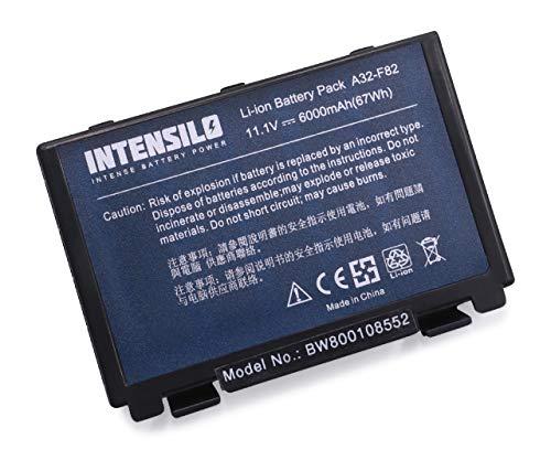 INTENSILO Li-Ion Akku 6000mAh (10.8V) für Notebook Laptop Asus X70a, X70ab, X70ad, X70ae, X70af, X70il wie A32-F82, A32-F52, L0690L6.