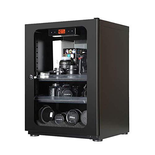 KAF Gabinete electrónico de humedad, cámara y gabinete de secado de lentes, deshumidificador doméstico de gran capacidad 73L / Negro/versión mejorada
