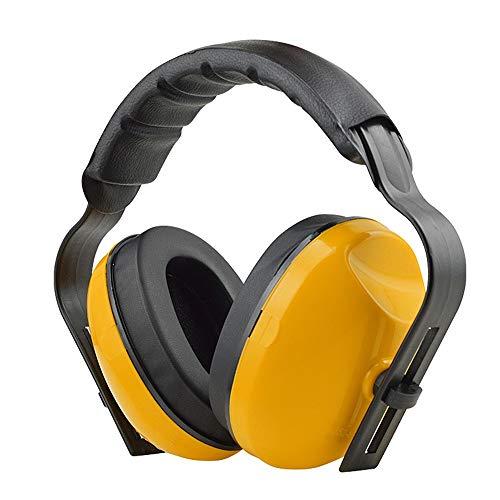 DMMW Schalldichte Ohrenschützer Kompakter Faltbarer tragbarer Gehörschutz für das Schießen Verstellbares Stirnband (Color : Yellow, Size : Free Size)