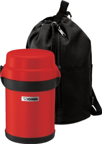 ZOJIRUSHI Mr. Bento Lunch Jar, Acero Inoxidable, Rojo, 13.7 cm