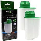 2x FilterLogic CFL-901B cartuccia filtrante compatibile con BRITA Intenza TCZ7003 - TZ70003 - TCZ7033-575491 per Bosch/Siemens/Lavazza macchine da caffè - BRITA Aqua Aroma Crema filtro acqua