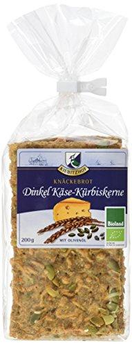 KIEBITZHOF Dinkel-Knäckebrot Käse/Kürbis, 6er Pack (6 x 200 g)