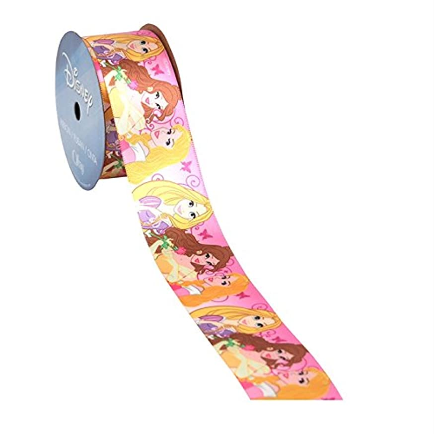 Offray Disney Princesses Craft Ribbon, 1 1/2-Inch by 9-Feet, Pink Ombre