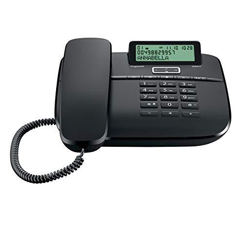 Gigaset DA611 - Teléfono Fijo de sobremesa con Pantalla, identificador de Llamada y Manos Libres