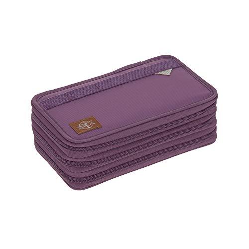 Lässig School Triple Pencil Case, Kids' Luggage Unisex-Child, Porpora/Viola, Taglia Unica