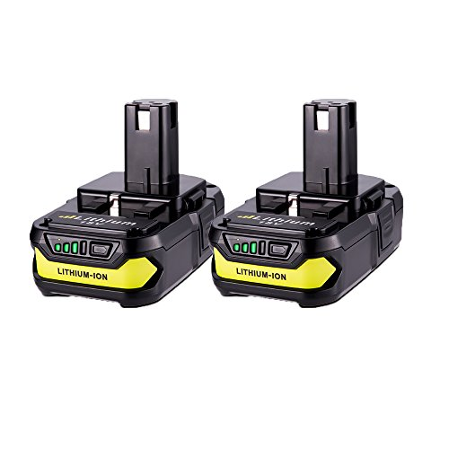 MASIONE 2Pack P102 Batteries 2500mAh Replace for Ryobi 18V Lithium Battery ONE+ P102 P103 P105 P107 P108 P109 P104 Cordless Tools Ryobi 18v Battery