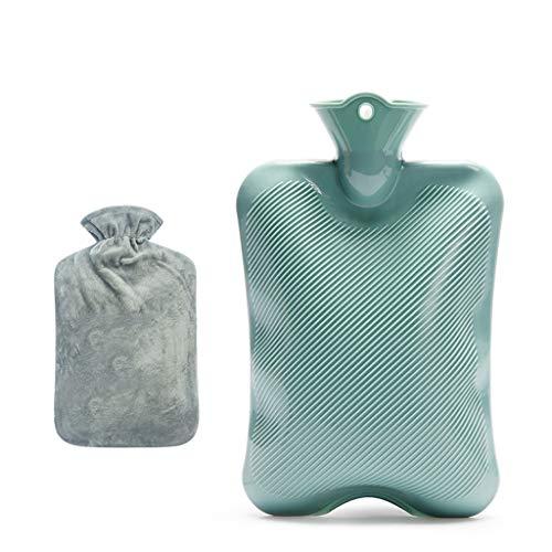 Botellas de agua caliente Botella de goma Agua Caliente Grande for el alivio del dolor caliente y fría terapia de riego caliente botella de agua caliente bolsa de 2 litros de agua con cubierta de punt