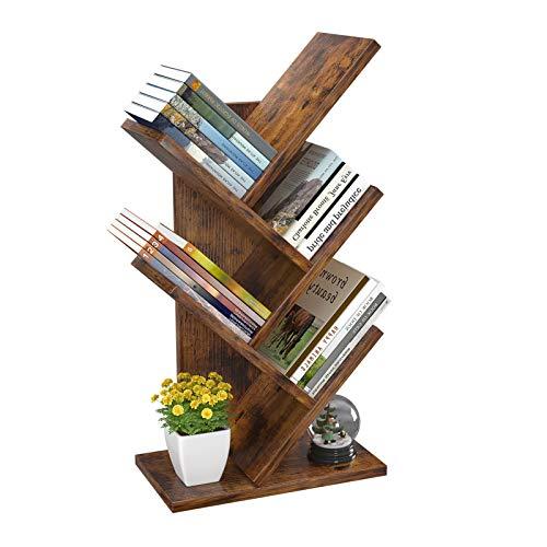 4-Tier Book Storage Organizer Shelves Floor Standing Bookcase