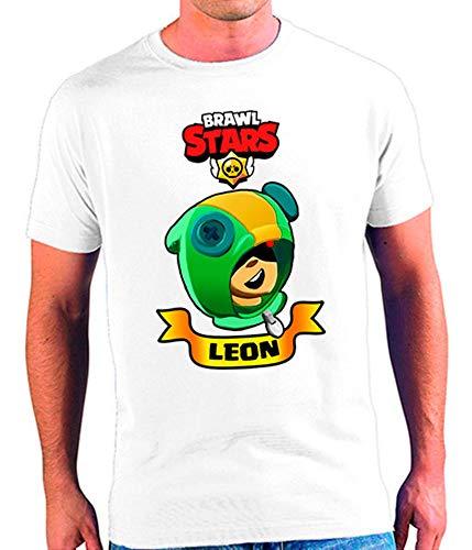 Mx Games Camiseta Brawl Stars Leon Tallas niño y Hombre (11-12)