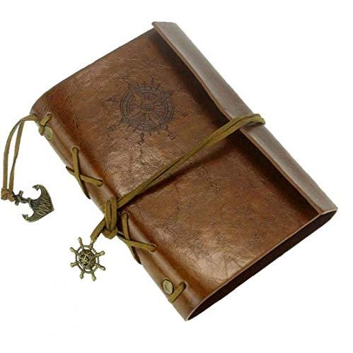 Nicedier Suministros de Cuero Cuaderno de protección de Cuero de la Nueva Vendimia del Arte Diario del Diario del Cuaderno de la Escuela de Brown