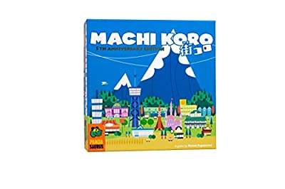 Pandasaurus Games Machi Koro 5th Anniversary Edition - Family-Friendly Board Games - Adult Games for Game Night - Card Games for Adults, Teens & Kids (2-4 Players)