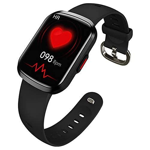 HQPCAHL Reloj inteligente para mujer y hombre, rastreador de actividad con pantalla dividida, esfera dinámica, Bluetooth, reloj deportivo