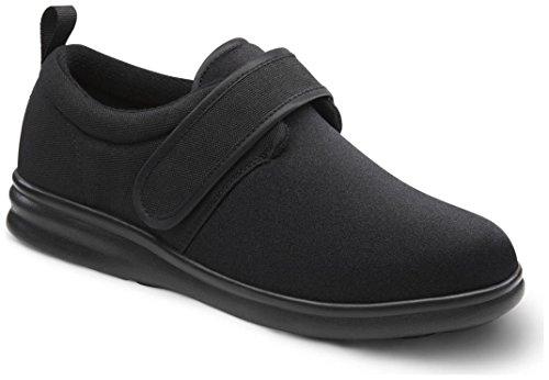 Dr. Comfort Men's Carter Black Stretchable Diabetic Casual Shoes,Black,7.5 M US