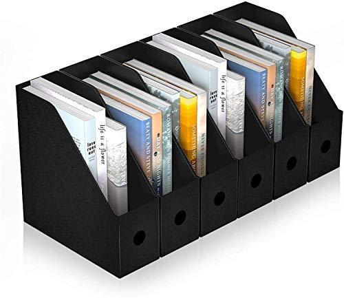 BLUE POWER ファイルボックス a4 紙 ファイル立て ファイルスタンド 収納ボックス ボックス ファイル 組み立て式 6個組 ホーム オフィス用品