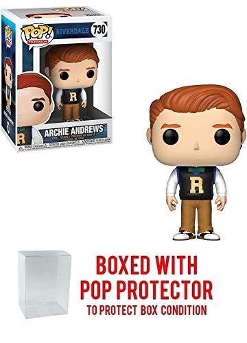 Funko Archie Andrews: Riverdale x POP! TV Vinyl Figure & 1 PET Plastic Graphical Protector Bundle [#730 / 34455 - B]