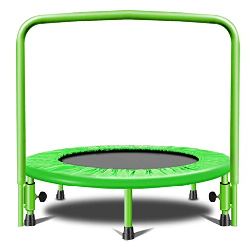 Outdoor Garden Jumping Rebounder Bouncer Trampoline Lean Aerobic Exercise Jumping Mat Safe Bungee Bed with Armrests Rebounder Padded Frame Cover Elasticity Lose Weigh Slimming Fitness Equipment