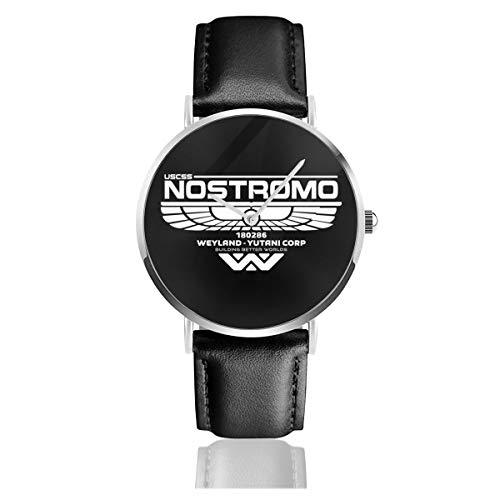 Relojes Unisex de Negocios Informales con Logo de Alien Nostromo de Cuarzo...