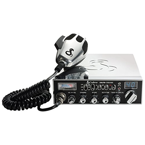 Cobra 29LTDCHR Professional CB Radio – Emergency Radio, Travel Essentials, Chrome, Talk Back, Instant Channel 9, 40 Channels, SWR Calibration