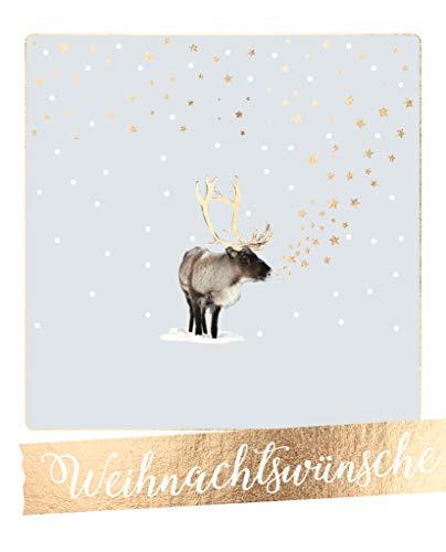 Cityproducts - 5179 - Happy Memories, Postkarte, Weihnachten, Rentier, Weihnachtswünsche Format 10,5cm x 13cm