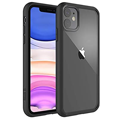 elcase Air Bolster iPhone 11 Clear Case - Protective iPhone 11 Case Shockproof Drop Protection, TPU Bumper, Scratch-Resistant Hard PC Back - iPhone 11 Cover Case 6.1 inch Compatible (Matte Black)