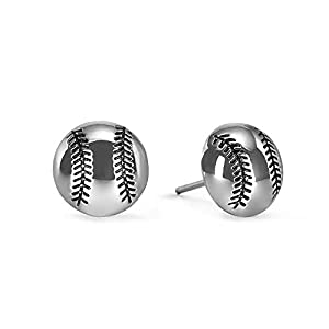 """FAN FAVORITE: Attention to realistic detail in the design and the lightweight delicate materials make this a huge favorite with Players and Fans alike. NON TARNISHING: Wear each Baseball .40"""" half sphere earring with confidence knowing each piece is ..."""