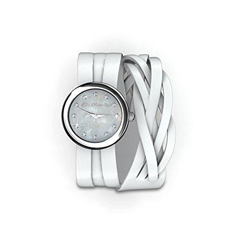 Reloj Pulsera Blanca y Cristal Swarovski Elements Blanco CW 0022 M Blanc