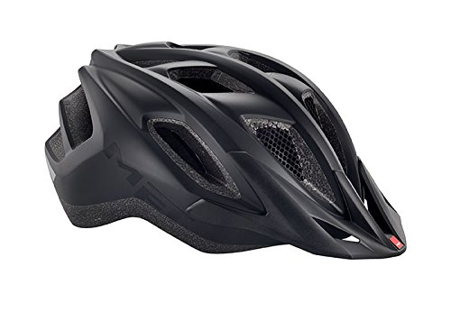 MET Funandgo Casco de Ciclismo, Unisex Adulto, Negro, 52-57 cm