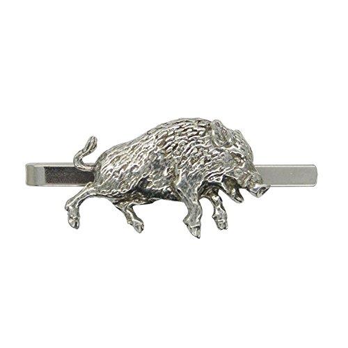 Pince à Cravate Sanglier - Fait à la Main en Etain - Fabrication Française