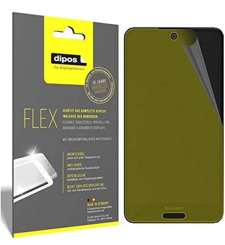 dipos I 3X Schutzfolie 100prozent kompatibel mit Sharp Aquos C10 Folie (Vollständige Bildschirmabdeckung) Bildschirmschutzfolie
