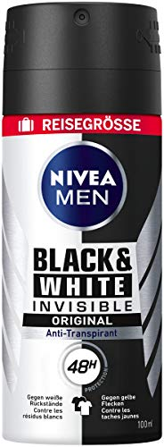 Nivea Men Black & White Invisible Spray, 6er Pack (6 x 100 ml)
