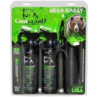 Griz Guard Bear Spray (2 Pack) -Strongest Formula Allowed by EPA, Includes (2) Griz Guard Holsters