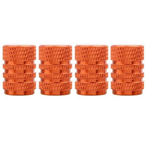 TOMALL Orange Runde Stil Aluminium Reifen Ventilkappen für Auto Auto Motorräder