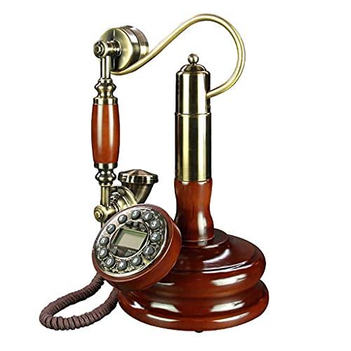 HAOJON Accesorio Retro para el hogar Decoración con Cable Teléfono Retro Moda Antigua Tono de Timbre Tradicional