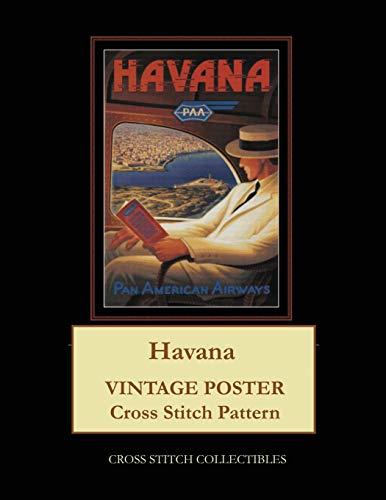 Havana: Vintage Poster Cross Stitch Pattern