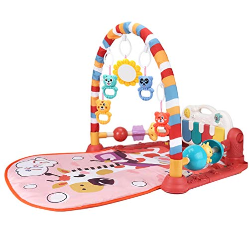 Zarome Baby Play Mat Baby Activity Gym Gym Play Mat con Música Y Luces Bebé Crawling Carpet Play Mat Music Toy Kick and Play Actividad De Piano Gimnasio Music Stat para Bebés New Norn impart
