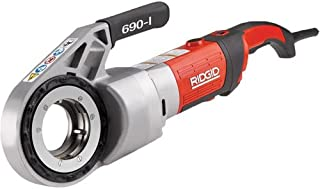 RIDGID 44923 Model 690-I Hand-Held Power Drive Kit, Pipe Threading Machine and 1/2-Inch to 2-Inch 11-R NPT Pipe Threading Die Heads with Carrying Case for Threading Pipe