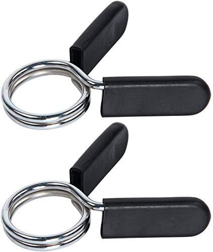 Horolas 25 mm mancuernas Clip, collares con clip de resorte, cierres de muelle para mancuernas, clip de muelle para mancuernas, gimnasio, fitness, pesas, equipo de elevación