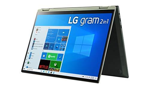 LG - Portátil gram 14T90P-G.AA78B Windows 10 Home, Convertible 2en1 Ultraligero de 35.5 cm (14') WUXGA 16:10 IPS (1.2 Kg, 16.5h, Intel EvoTM i7 11ª Gen, Iris Xe, 16GB RAM, 512GB SSD NVMe), Negro