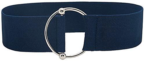 ALAIX Women's Belt Dress Belts for Women Stretchy Wide Waist Belt Elastic Waistband for Jumpsuit Coat Darkblue