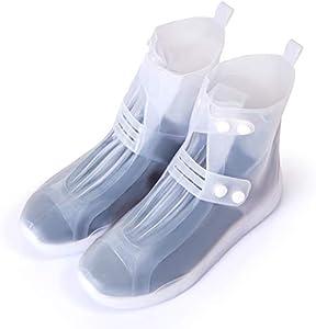 GWHOLE Cubierta Impermeable para Zapatos/Botas/Zapatillas, Cubrecalzado a Prueba de Agua, Lluvia, Nieve, Barro Salpicado- L