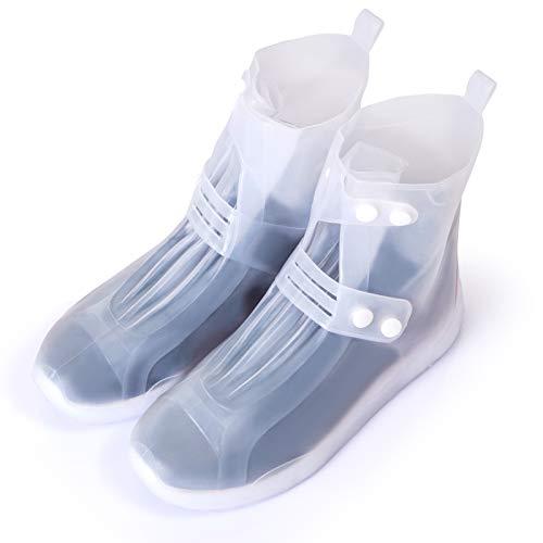GWHOLE Cubierta Impermeable para Zapatos/Botas/Zapatillas, Cubrecalzado a prueba de Agua, Lluvia, Nieve, Barro Salpicado (XL(40-41))
