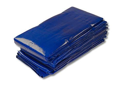 1 bâche en tissu super professionnelle 250 g/m² 10 x 20 m bleu 3 ans garantie UV tous les 50 cm avec œillets et renforcement des bords, super stable et résistant aux déchirures